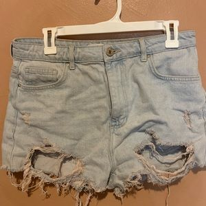 Pants - Distressed shorts forever 21 H&M Levi's